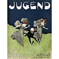 Advert Cultural Magazine Cover Jugend Nouveau Weird Art Print Poster Wall Decor 12X16 Inch 広告文化的雑誌の表紙カバーヌーボー奇妙なポスター壁デコ