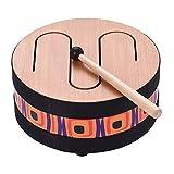 Muslady 6インチ/8インチ ウッドフロアドラム ギャザリングカーニバル リズムパーカッション 楽器 子供向け