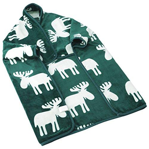 とろけるフランネル 着る電気毛布 クルン グリーン...