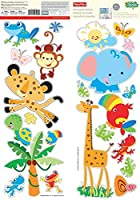 Animals of the Rain Forest Fisher Price Wall Stickers [並行輸入品]
