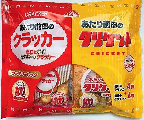 前田クラッカー 15g×4袋×2種 ファミリーパック 前田のクラッカー・クリケット 10袋入