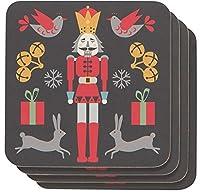 Nowd Designs くるみ割り人形コースター4枚セット (1780052)