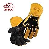 BSX ビーエスエックス プレミアム グレイン ピッグスキン (豚表革) / カウハイド (牛革) Stick 溶接用 グローブ (S)