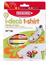 Fibracolor I-Deco T-shirt Fibre Pens - Pack of 10