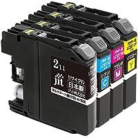 ジット ブラザー(Brother) 対応 リサイクル インクカートリッジ LC211-4PK 4色セット対応 JIT-NB2114P