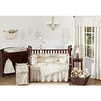 Sweet Jojo Designs 9-Piece Champagne and Ivory Victoria Baby Bedding Girl Crib Set [並行輸入品]