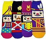 (ジェイジェイマクス) JJMaxUS 女性くるみ割り人形Nutcrackerクリスマス綿靴下ファッションソックスセットJJMax Women's Nutcracker German Dolls Anklet Socks Set [並行輸入品]