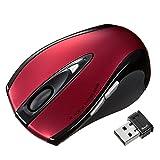 サンワサプライ ワイヤレスマウス 戻る・進むボタン搭載 5ボタン レッド MA-NANOLS12R