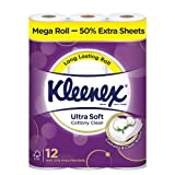Kleenex Ultra Soft Mega Roll Bath Tissue, 12 Count, (Pack of 3)