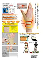日用品 ファッション 関連商品 腱鞘対策 着圧サポーター (ブラック・S)