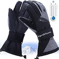 メンズスキー手袋、防水3 Mシンサレート熱暖かい防風雪スポーツスキースノーボード、冬Cold Weatherグローブ