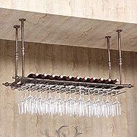 ワインラック ワインラック吊りワインラック上下逆さま杯ラックワインラックキッチンバーレストランカップホルダー カップホルダー (Color : B, Size : 80*30cm)