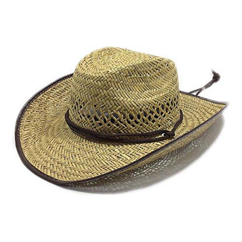 The Hatter(ザ・ハッター) 麦わら帽子 農作業 帽子 ガーデニング カーボーイ型 UV 日よけ メンズ レディース おしゃれ UVカット 紫外線 日焼け つば広 春 夏 首 首ガード 父の日 ブラウン