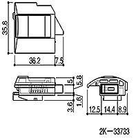 内倒しロック(シフター)(HH-2K-33733) EW:×商品種類:内観左用