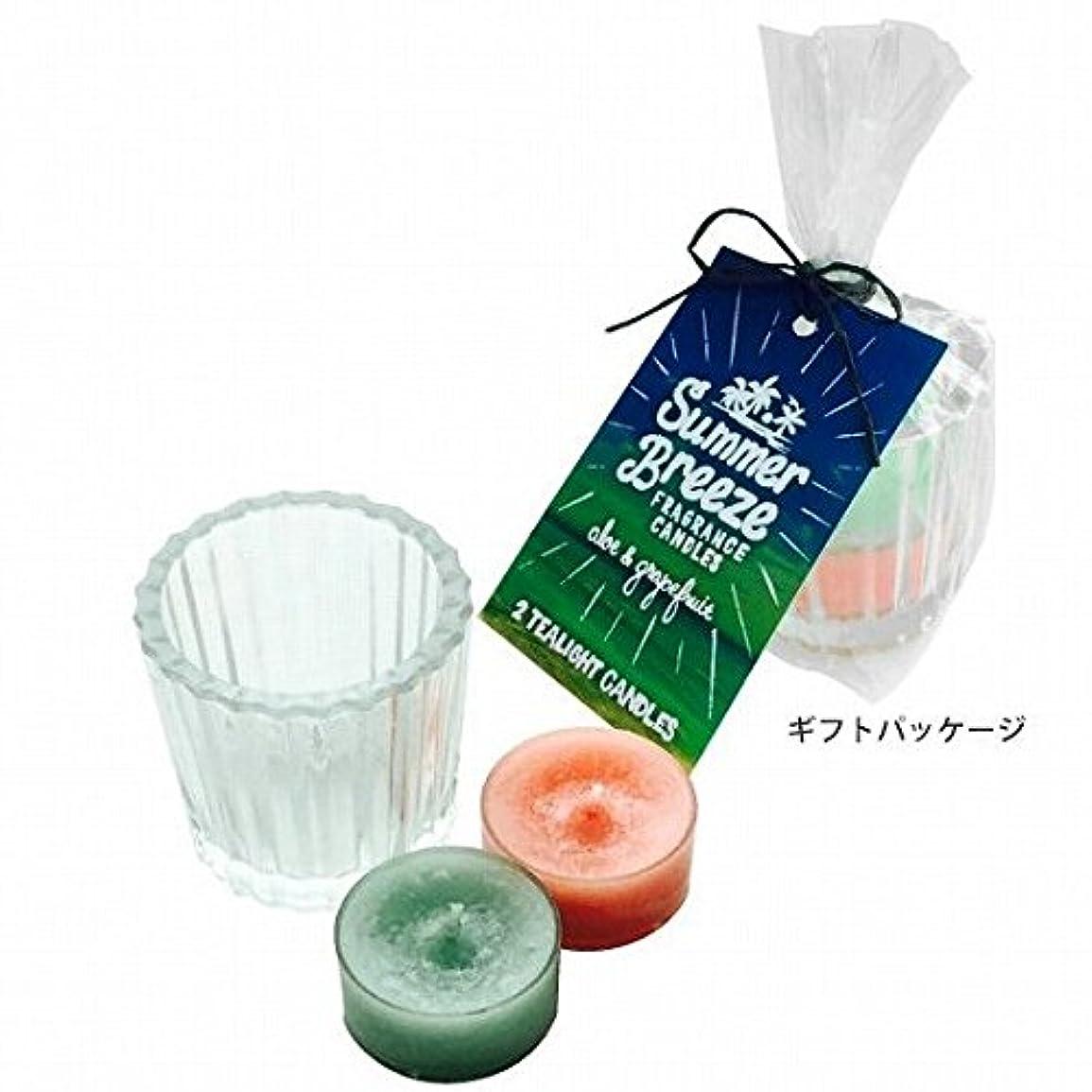 デザイナー石膏葉っぱkameyama candle(カメヤマキャンドル) サマーブリーズティーライトキャンドルセット(K5090001)