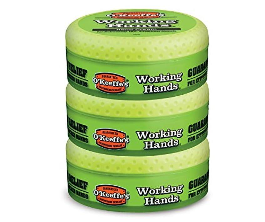 O ' Keeffe 's Working Hands Hand Cream, 3.4オンス、Jar 3 - Pack K0350002-3 3