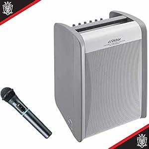 JVC ポータブルワイヤレスアンプ(CD/シングルチューナー1台内蔵/ワイヤレスハンドマイク1本同梱) PE-W51SCD-M