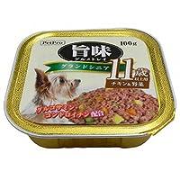 (まとめ買い)ペットプロ 旨味グルメ トレイ グランドシニア 11歳以上用 チキン&野菜 100g 【×48】