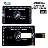 【アメリカンエキスプレス】センチュリオンブラックカードタイプ USBメモリ32GB 財布に収納可能で紛失を防ぎ常備できる便利なカード型USBメモリ 大容量の32GB アメックス AMERICAN EXPRESS クレジットカードタイプ