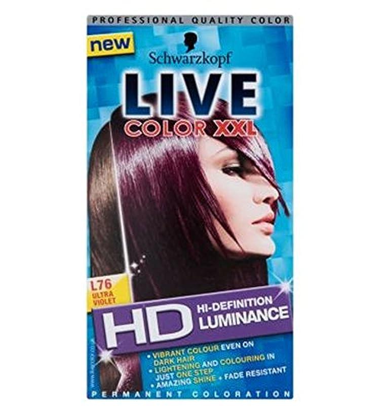 センブランス徹底文Schwarzkopf Live XXL HD Luminance Ultra Violet L76 - シュワルツコフライブXxlのHd輝度紫外線L76 (Schwarzkopf) [並行輸入品]