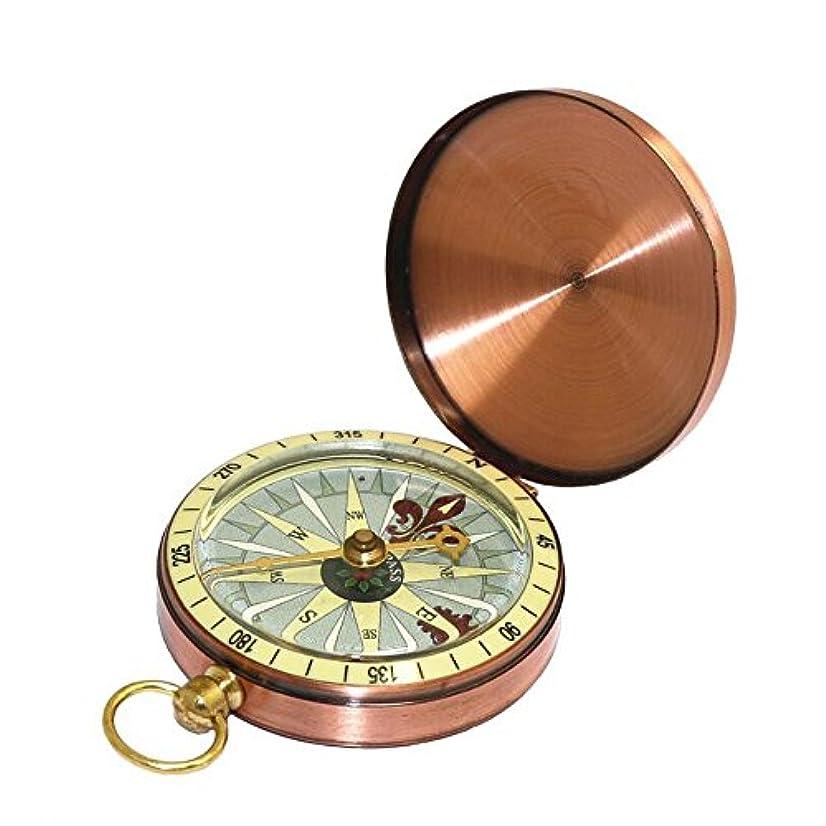 却下するナンセンスメタルフリップコンパス屋外コンパスポケット腕時計ブロンズコンパス