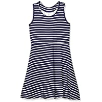 Angie Little Big Girls Striped Dress with LACE Straps