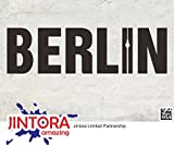 JINTORA ステッカー/カーステッカー - Letters from Berlin - ベルリンからの手紙 - 210x60mm - JDM/Die cut - 車/ウィンドウ/ラップトップ/ウィンドウ- 黒