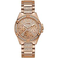 Guess Ladies Frontier Rose Gold Crystal Face Model W1156L3 Stainless Steel Date & Day 091661488085