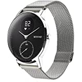 Balerion Band for Nokia Steel,Withings Steel HR 36MM,Activité Sapphire a,Mesh Band with Magnetic Lock/Closure Clasp Mesh Loop Stainless Steel Band for Withings Steel HR 36MM-Mesh Silver 36MM