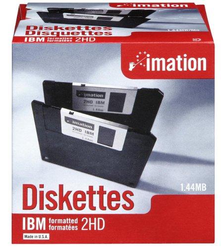 イメーション 3.5インチFD DOS/Vフォーマット25枚入 紙箱×1 US仕様品 MF2HD-W...