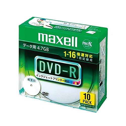 マクセル DR47WPD.S1P10S A データ用 DVD-R 4.7GB 1回記録 プリンタブル 16速 10枚