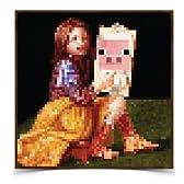 Minecraftの豚の肖像画ポスター