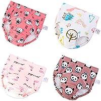 U0U Baby Boys Girls Cotton Training Pants Toddler Kids Potty Training Underwear 4 Pack + 1 Waterproof Backpack