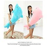 イルカ 大きいいるか 動物 2色 可愛い 海豚ぬいぐるみ/縫い包み/クマ抱き枕/お祝い/ふわふわぬいぐるみ (75cm, ピンク)