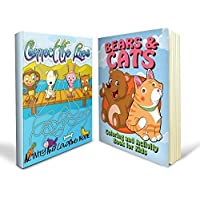Activity Coloring Book Bundle - Two Great Activity Coloring Books: Includes a Connect the Lines Activity and Coloring Book and Bears and Cats Coloring and Activity Book for Kids and Absolutely Mom Approved by Speedy Activity Books [並行輸入品]