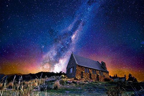 1000ピース ジグソーパズル めざせ! パズルの達人 世界の絶景 満点の星空 テカポ―ニュージーランド(50x75cm)
