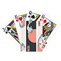 Chinese Japanese魚パターンPoker PlayingカードTabletopボードゲームギフト