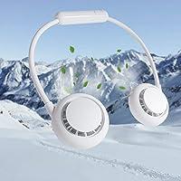 首掛け扇風機 携帯扇風機 小型 ポータブル 2600mAh 大容量 収納便利 ハンズフリー 扇風機 USB充電式 強力…