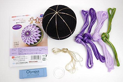 オリムパス製絲 オリジナル手まりキットシリーズ TM-7 古典菊