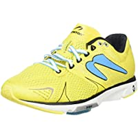 Newton Running Women's Distance V Yellow/Blue Sneaker 5 B (M)
