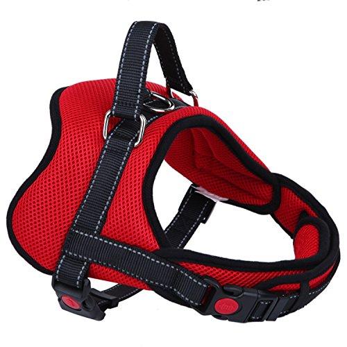 ZAFIELD 犬 ハーネス 胴輪 ソフト メッシュ素材 小型犬 中型犬 大型犬 首・胴回り調整機能付き