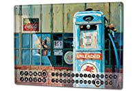 カレンダー Perpetual Calendar Fun rative G. Huber american art gas station Tin Metal Magnetic