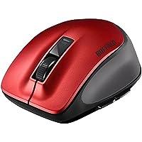 BUFFALO Bluetooth BlueLED プレミアムフィットマウス Mサイズ レッド BSMBB505MRD