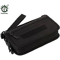 ナイロンウェアブル防水ハンドバッグ多機能カードホルダー財布ブラック