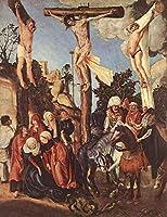手書き-キャンバスの油絵 - 美術大学の先生直筆 - The Crucifixion human body Lucas Cranach the Elder 宗教画 キリスト教的 絵画 洋画 複製画 -サイズ16
