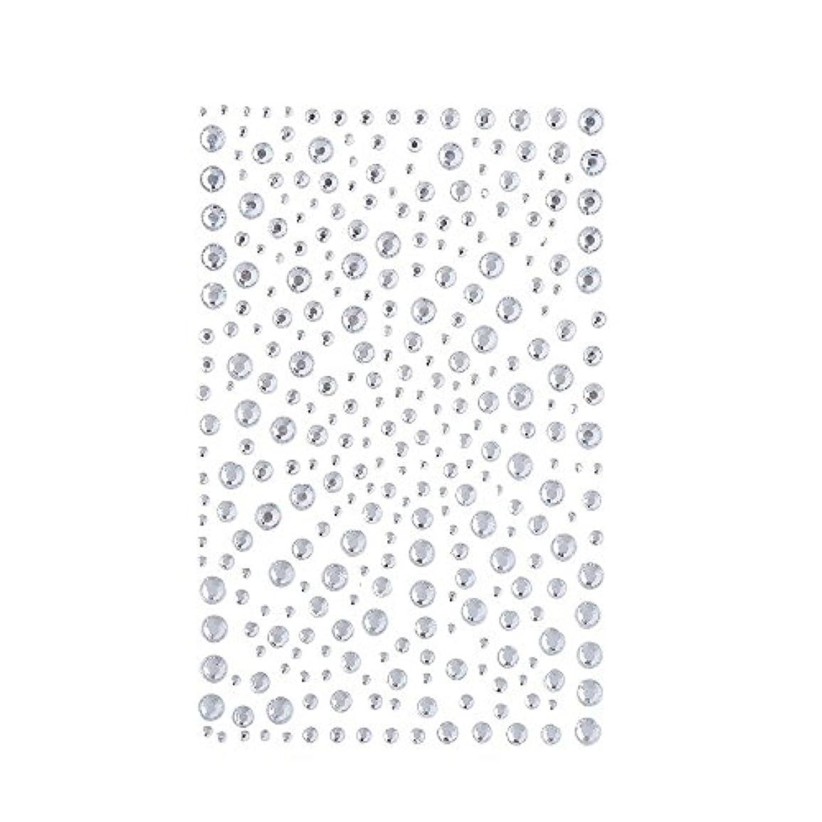 空中顎エンターテインメントラインストーン 人工ダイヤモンド スワロフスキー ホットフィックス 325粒 (白)