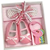 Stephan Baby Flapper Girl Headband and Shoe Gift Set Rose Pink Size 6-12 month by Stephan Baby [並行輸入品]