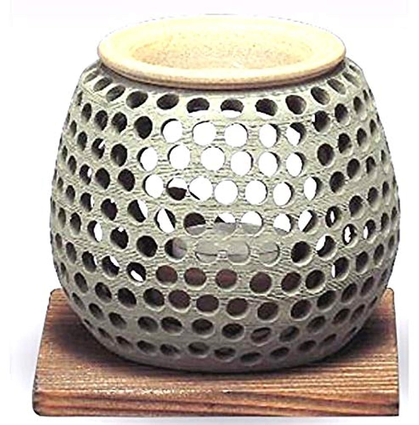 そうでなければ静かに着陸常滑焼 石龍作 茶香炉(アロマポット)径10×高さ10cm