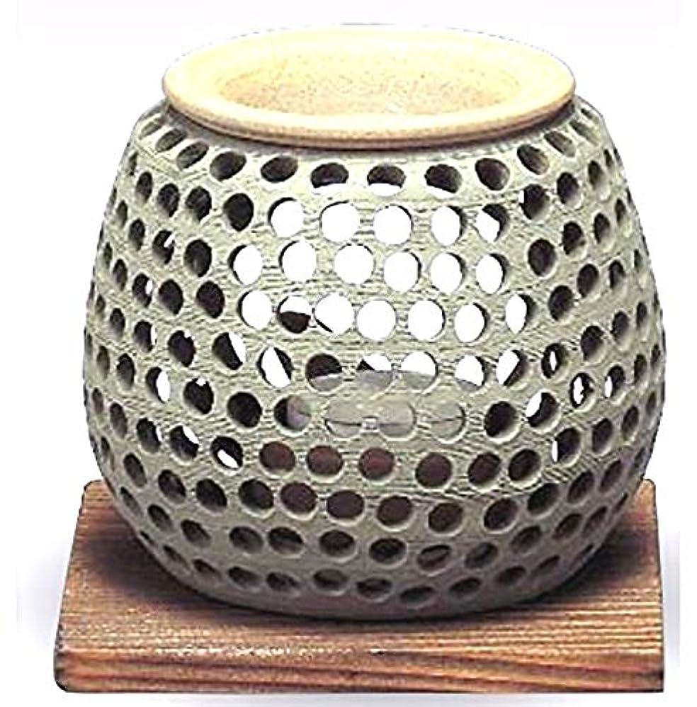 湿地レース家具常滑焼 石龍作 茶香炉(アロマポット)径10×高さ10cm