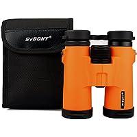 SVBONY SV21 双眼鏡 10倍 高倍率 望遠鏡 ダハプリズム コンパクト コンサート ドーム ライブ アウトドア 旅行 観戦 ハイキングなど適応 女性、子供用(オレンジ色)